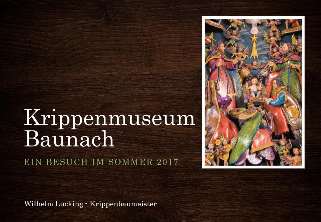 Krippenmuseum Baunach Krippe Bamberg Franken Krippenfreunde Osnabrück nativity christmas crib