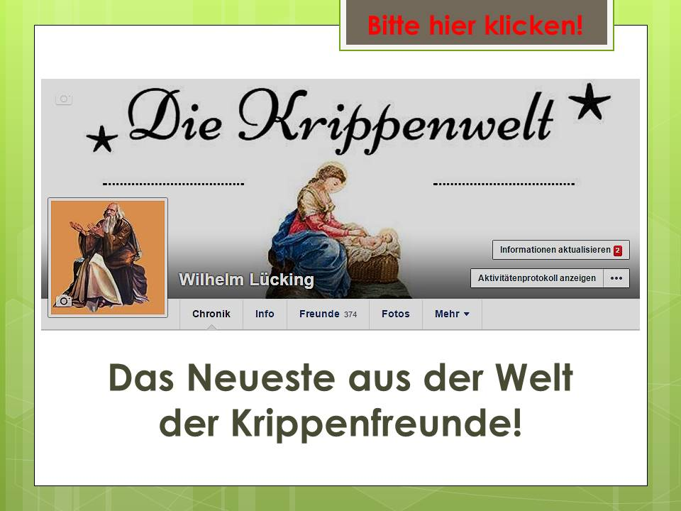 Die Krippenwelt Wilhelm Lücking Krippenfreunde Krippenverein nativity presepe