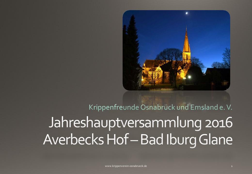 Krippenverein Osnabrück Krippenfreunde Averbecks Hof Heimatverein Gane nativity
