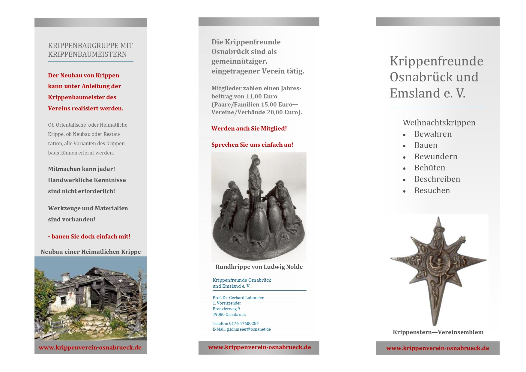 Krippenfreunde Osnabrück Krippenverein Krippenbau Krippe nativity Info Krippenbau Krippenkunst