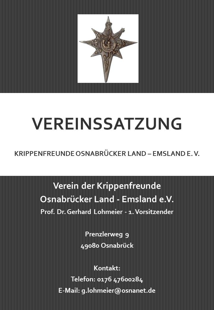 Vereinssatzung Krippenverein Osnabrück