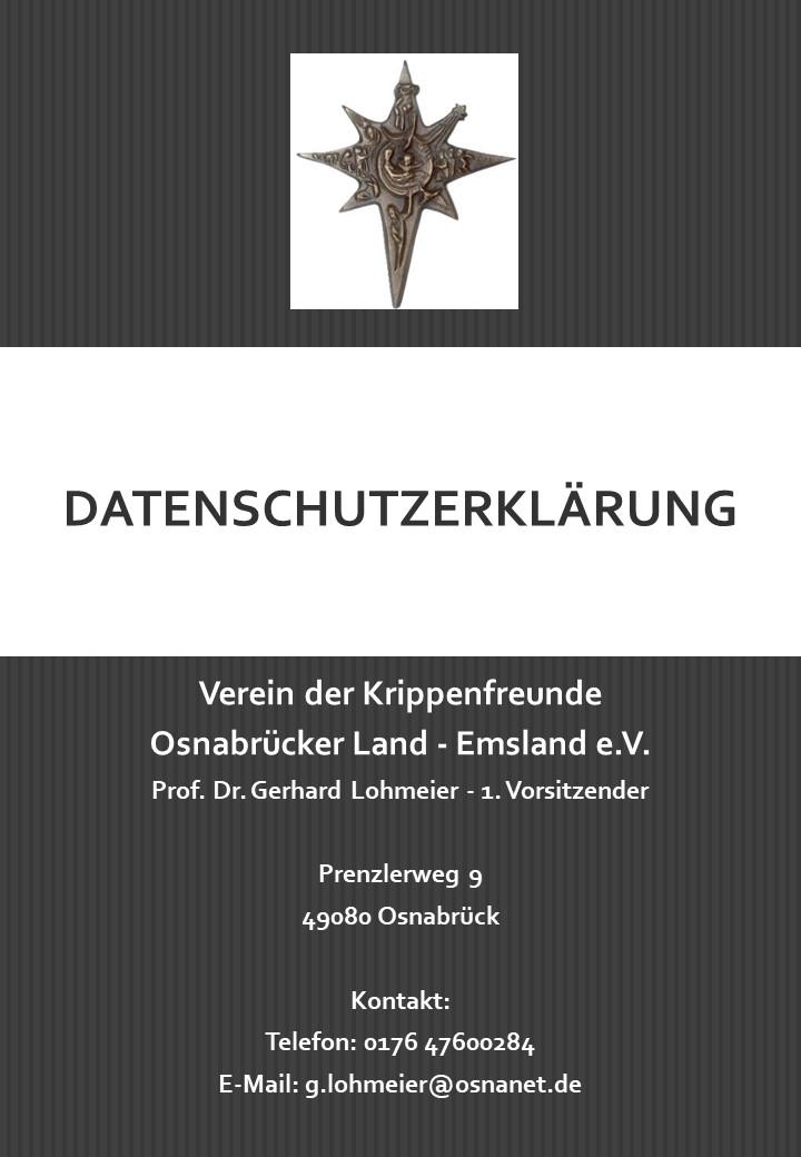 Datenschutzerklärung Krippenverein Osnabrück
