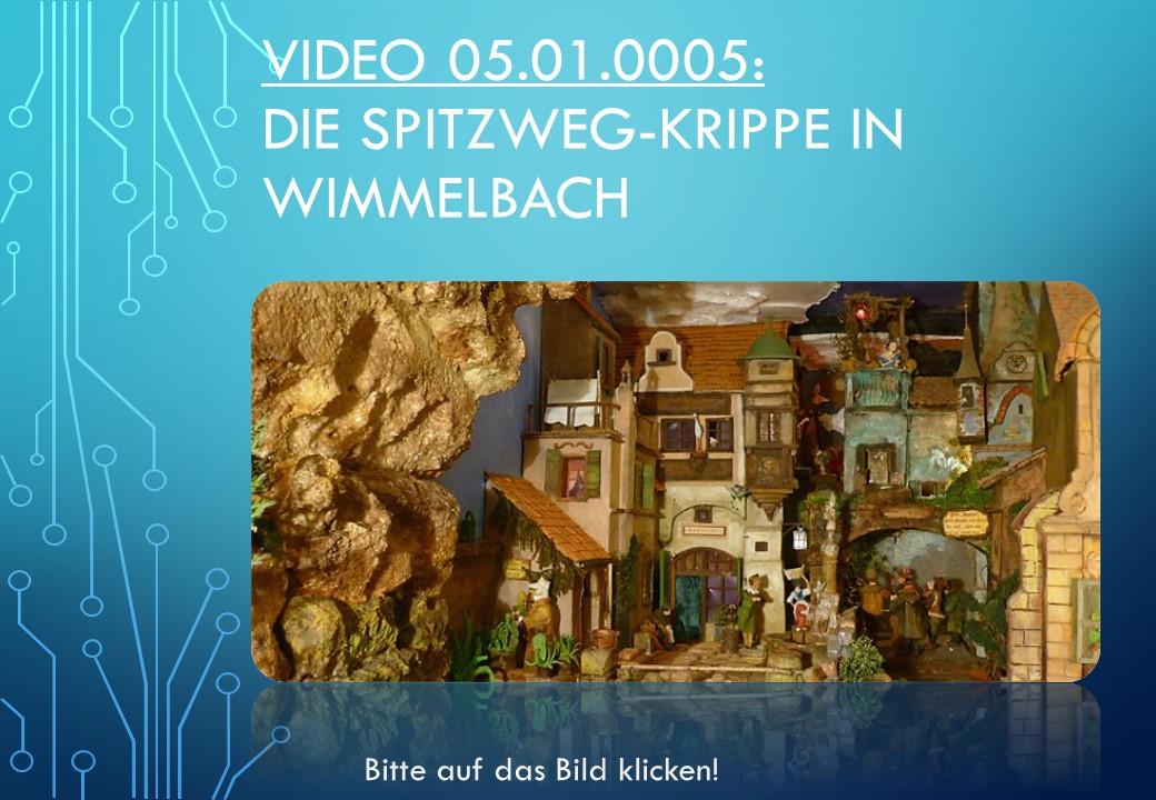 Spitzweg Krippe Wimmelbach Krippenvideo Betlem kerststal presepio nativity