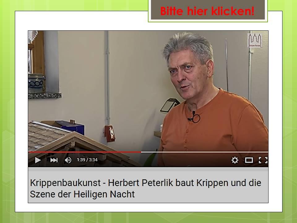 Hubert Peterlik Krippenbauer Krippenstall Weihnachtskrippe Nacimiento Presepio Belenista