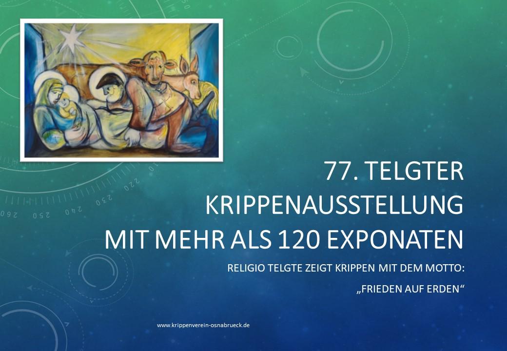 RELIGIO Telgte Krippenausstellung Krippenfreunde Osnabrück Weihnachtskrippe