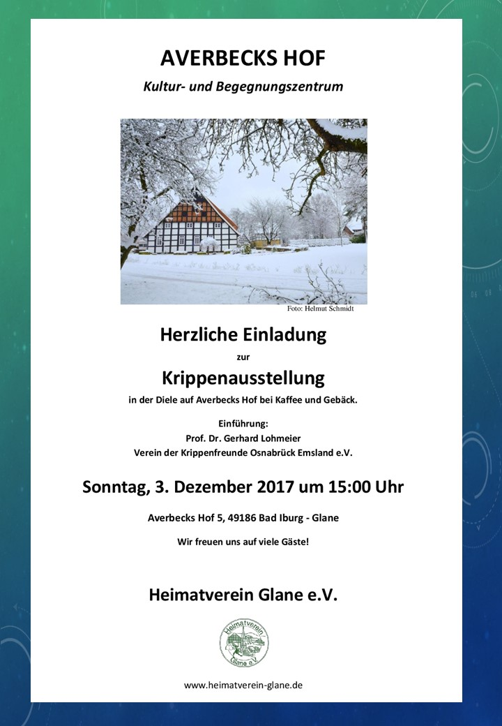 Krippenausstellung Averbecks Hof Bad Iburg-Glane