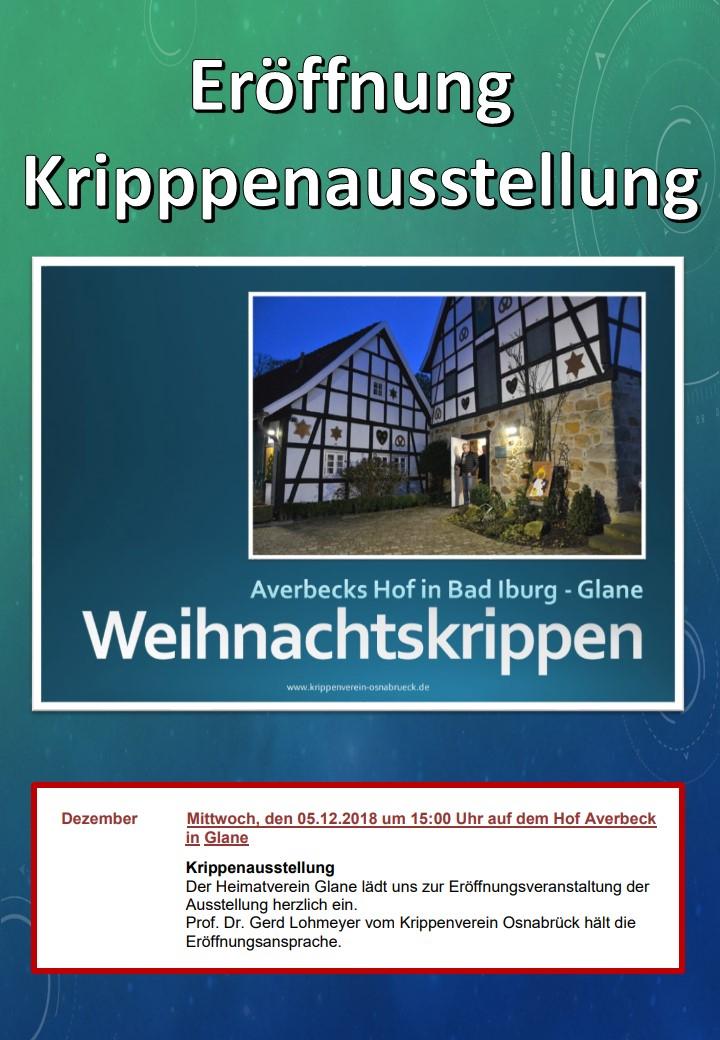 Bad Iburg Glane Krippenausstellung Averbecks Hof Heimatverein Krippenverein Osnabrück