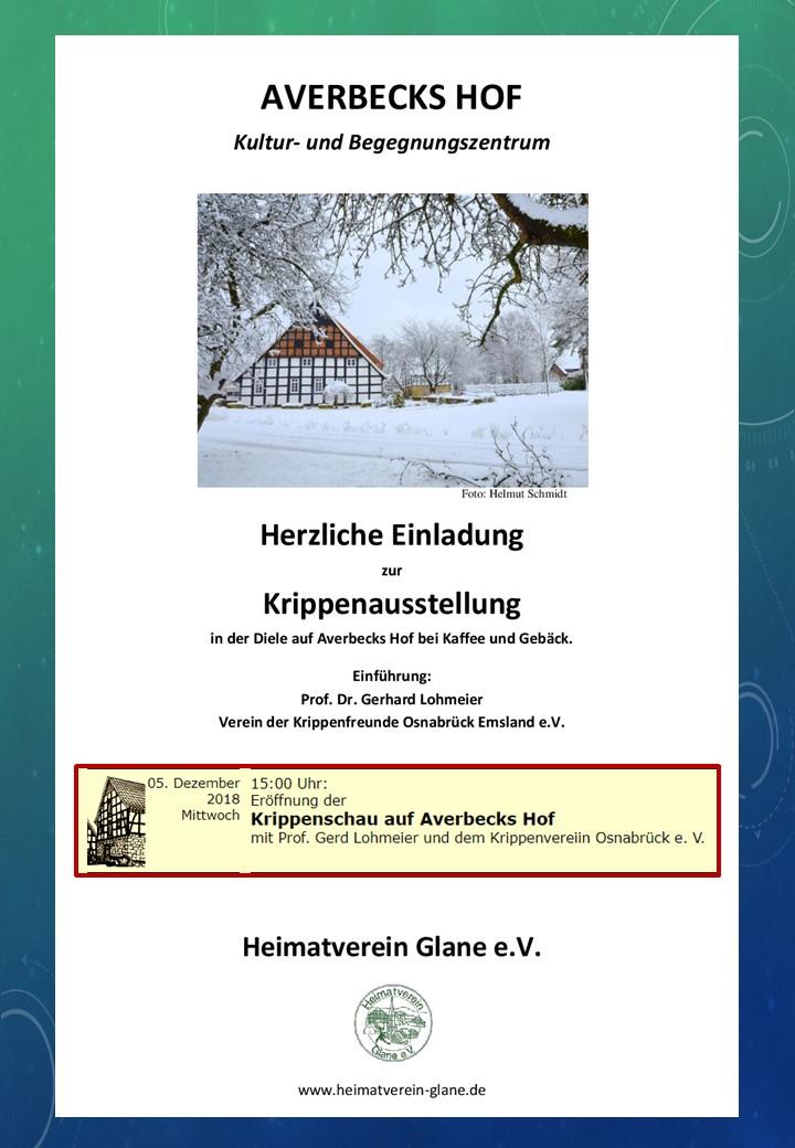 Nativity Kerststal Krippenschau Krippe Ausstellung Krippenfreunde Osnabrück
