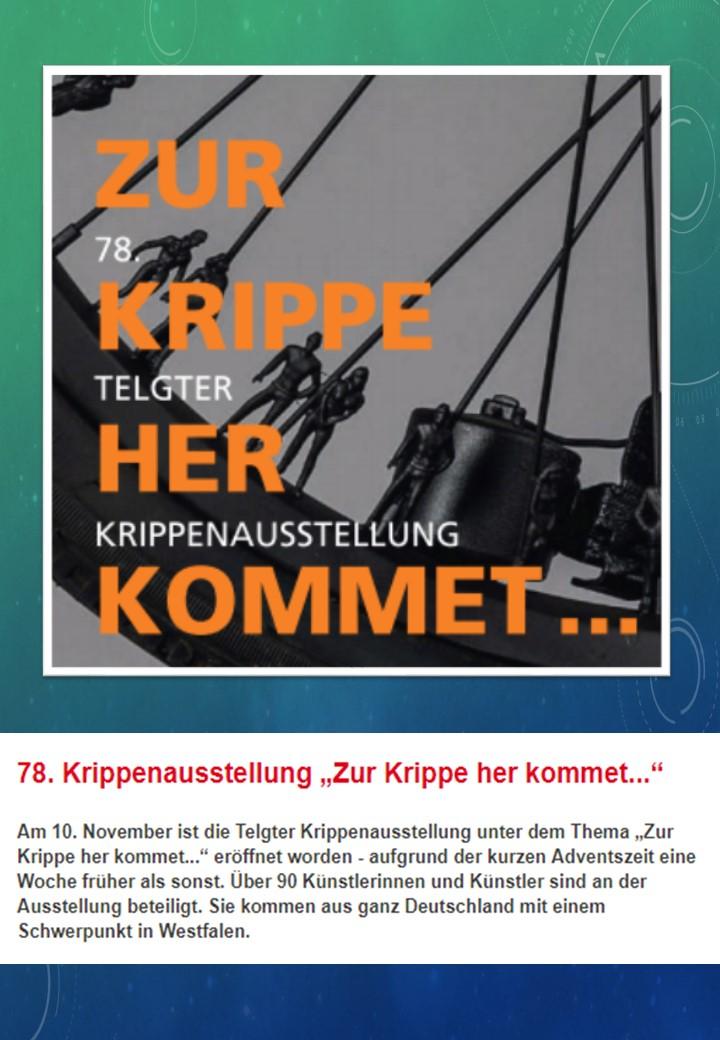 Krippenausstellung Telgte Osnabrück Krippenverein Krippenfreunde www.krippenverein-osnabrueck.de