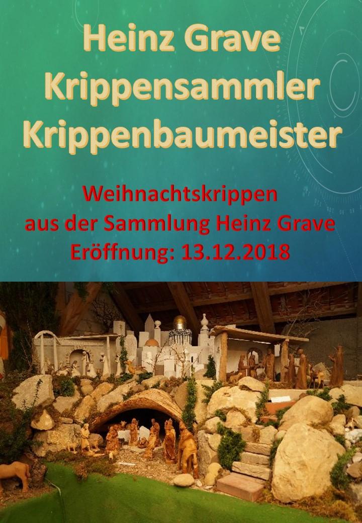 Heinz Grave Krippensammler Krippenbaumeister Krippenausstellung Osnabrück Melle Krippenfreunde Weihnachtskrippen