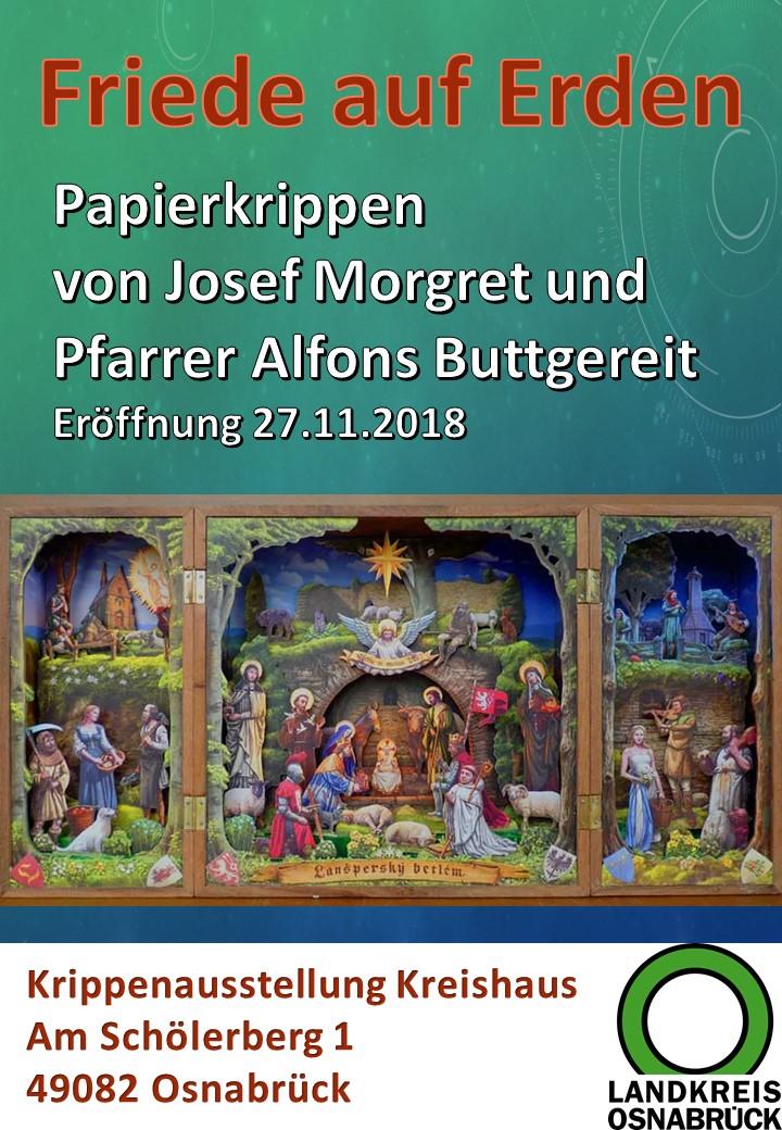 Papierkrippe Ausschneidekrippe Kreishaus Krippenausstellung Krippenverein Osnabrück Krippenfreunde