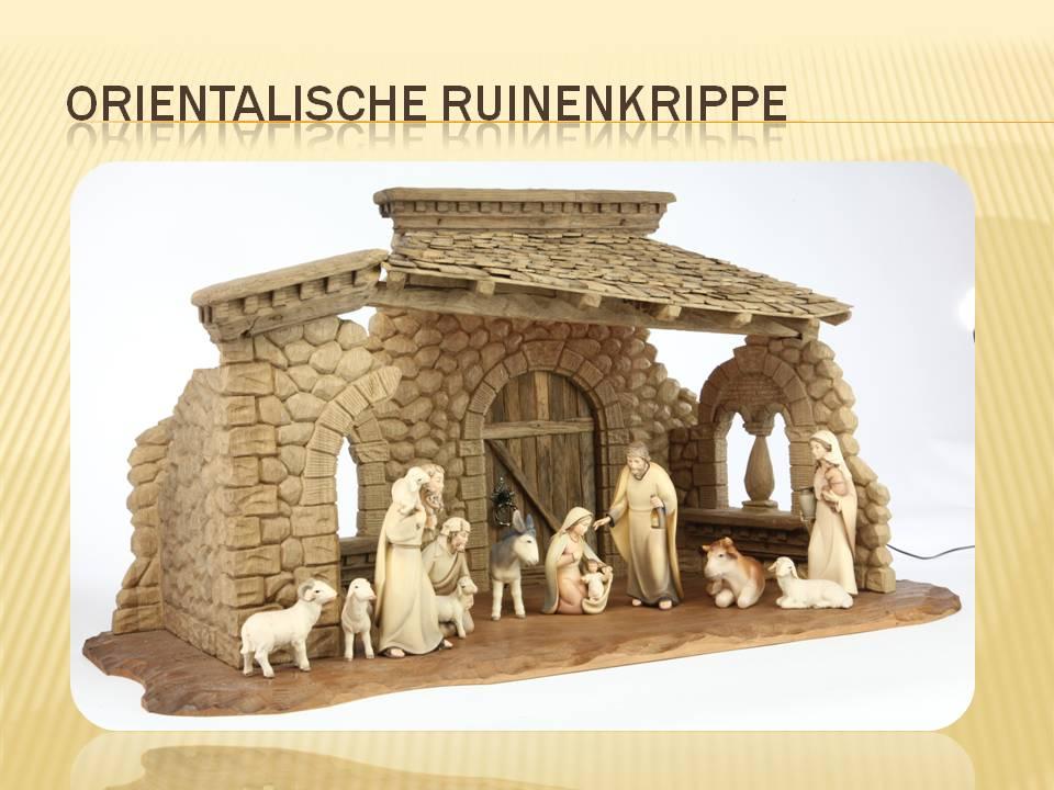 Orientalische Krippe Ruinenkrippe Krippenkunst nativity scene presepio szopka pesebre kerststal