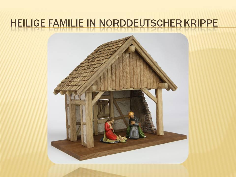 Norddeutsche Krippe Fachwerk Westfälische Krippe Münstländische heimatliche
