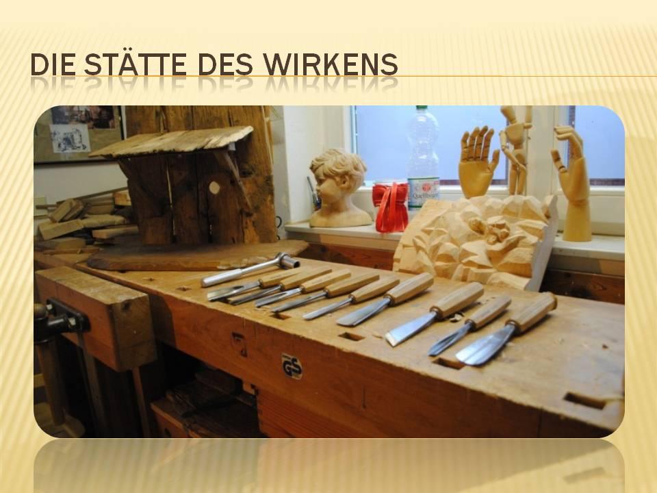 Krippenwerkstatt Schnitzstube Schnitzer Bernd Philippskötter Schnitzmesser Schnitzeisen Holzschnitzwerkstatt
