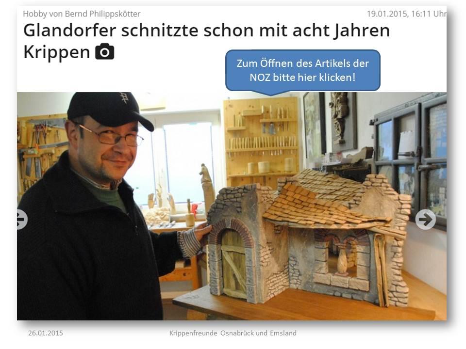 Glandorf Krippe Philippskötter Krippen Bernd Krippenfreunde Krippenbauer Schnitzer Krippenschnitzer