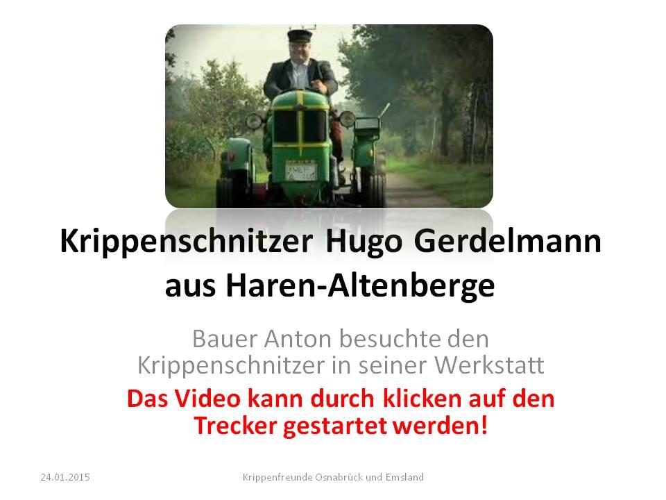 Bauer Anton Krippenschnitzer Gerdelmann hugo Krippenkunst Holzschnitzer Krippenbauer Krippe Haren Emsland