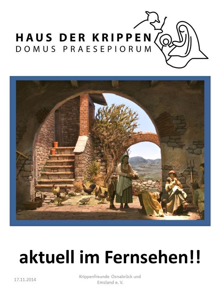 Haus der Krippen Klüsserath Krippenmuseum Video Krippenfreunde Krippenverein Osnabrück presepio belen de navidad