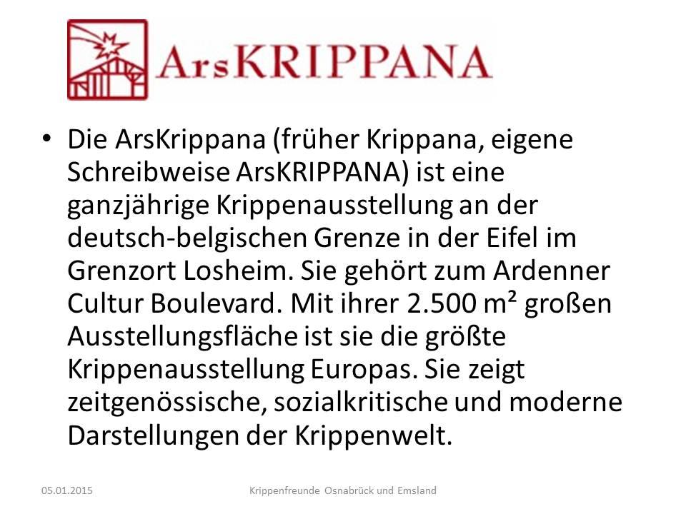 Arskrippana Ardennen Losheim nativity show presepios kerststallen