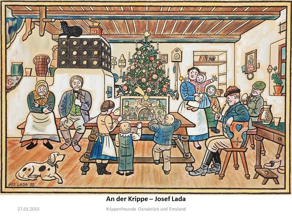 Josef Lada Papierkrippe paper nativity papirove betlemy bouwplaat kerststal presepi di carta belen del papel
