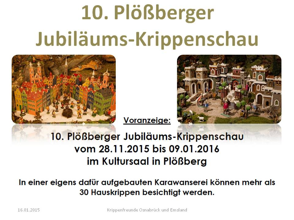 10. Plößberger Krippenschau Krippenausstellung Stiftsland Egerland Marktredwitz nativity show